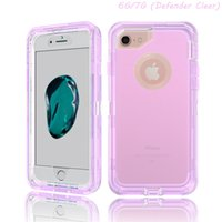 Wholesale 3 in Hybrid Defender Case for iphone plus Transparent Full Body Robot Cover Amor Cases for iphone s plus samsung s7 edge