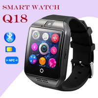 all'ingrosso wireless camera watch-Bluetooth intelligente orologio Q18 wireless intelligenti braccialetti fotocamera a distanza SIM Passometer per iOS / Android Samsung orologi intelligenti