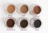 Wholesale Pomade Makeup Eyebrow Waterproof Eyebrow Enhancers Colors Blonde Auburn Chocolate Dark Brown Ebony SOFT BROWN TAUPE MEDIUM BROWM
