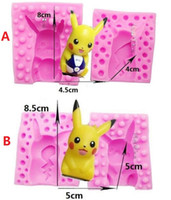 Wholesale Poke Go Cavity Mini Madeleine Shell Chocolate Cake Moulds Silicone Pikachu Mold Cookies Baking Mould Tool