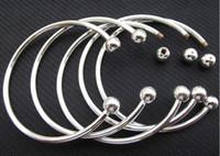 Cheap 925 Sterling Silver Fill Open Women Cuff Bangle 65MM 70MM Size Fit European Beads Charm Bracelet Brand Screw Bangles