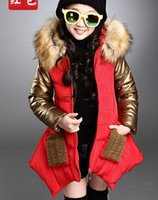 Wholesale New Thickness Warmer Winter Jacket For Girl Parka Kids Winter Long Jacket Manteau Fille Hiver Hooded Girls Winter Coat