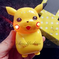 Wholesale With LED Light Pikachu Power Bank mAh Portable Charger Poke Cartoon Cute LED USB Phone Battery Mobile Chargers L337 B