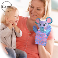 Wholesale Cute Cartoon Animal Puppet Baby Boys Girls Teasing Toys Kids Plush Hand Puppets Soft Toy Story Pretend Playing Doll Cute Gift