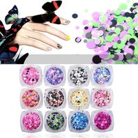 paillette del arte del clavo al por mayor-Moda 2 Box 1mm-3mm Mixed mini redonda fina Nail Art Glitter Paillette