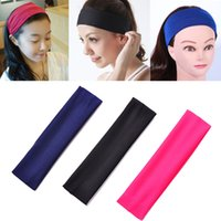 Wholesale Whole people Sport Elastic Headband Sports Yoga Accessory Dance Biker Running Wide Headband Stretch Ribbon Cotton Hairband