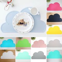 Wholesale Fashion pc Silicone Cloud Shape Insulation Kitchen Placemat Cute Kids Placemat Pad Dining Table Mat Coaster Christmas