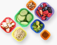 Wholesale FF62 food container portion control fiitness sport yoga nutrition eating plan kit DAY box color coded essential set BPA free