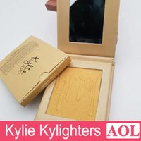 Wholesale Kylie Cosmetics Kylighter French Vanilla Cotton Candy Salted Carmel Highlighter Glow Face Makeup color Bronzers Highlighters free gift