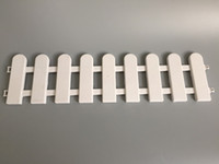 Wholesale D50 H13CM D19 inch H5 inch plastic barrier fence white garden supplies Small Fence Use for Indoor Decoration