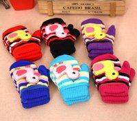 best kids mittens - Gloves Children Boy Years Warm Wool Thick Kids Gloves Mittens for Boys Girls Winter Kids Child Rope Wrist Gloves Best Gift ZA1509