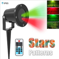 Wholesale christmas laser projector Outdoor Garden Star light IP65 Waterproof IR Remote Control Show Red Green Laser Lights RG Decorations