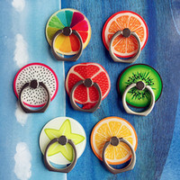 Wholesale New Design Cheap Price Phone Ring Summer Fruit Pattern Phone Ring Holder Universal Cell Phone Holder Mounts