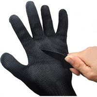 Wholesale Pair of Safety Gloves Anti Cutting Gloves Cut Proof Safety Breathable Outdoor Working Gloves Hands Protector Black White Color Kitchen A252