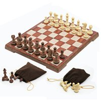 Wholesale New Arrival Wooden WPC Board Game Chess Set Folded Board International magnetic Chess Set Exquisite Chess Puzzle Games K8356