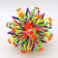 Wholesale 2017 New expanding sphere mini ball kids toy rainbow Colorful flower magic ball lay in children s toys