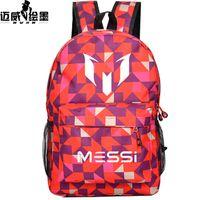 Wholesale Teenagers rucksack school bag Logo Messi Backpack Soccer Footbal Bag men Boys Travel Gift Kids Bagpack Mochila Bolsas Escolar