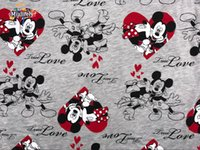 Wholesale Mickey Mouse cotton knit fabrics prints Patchwork Cartoon beer DIY clothes coat material dress Sewing summer princess A133