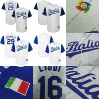 Men authentic youth jerseys - 2017 World Baseball Classic Authentic Italy Team Men s Women Youth Francisco Cervelli White Baseball Jersey Top Quality stitched
