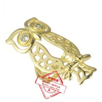 Wholesale Fitbit Flex Metal Suit Luxury Ornament Decoration Hollowed Metal Owl With Diamond Eyes For For Fitbit Flex2 Replacement Band