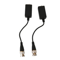 Wholesale 2pcs set P P ABS Shell Passive HDCVI Transceiver Adapter Transmitter Single Channel M Device Black