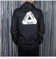 Wholesale Palace Jacket Men London Brand Classic Triangle Printing Windbreaker Palace Skateboards Windproof Jackets Palace Jacket off