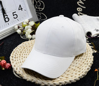 Wholesale Korean female summer pure white pure black peaked cap plate lovers cap bending eaves Pink Baseball Hat