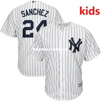 Wholesale Youth Kid s High Quality Gary Sanchez Home White Navy Official Cool Base Baseball Jersey