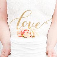 Wholesale LOVE Cake Topper Sparkle Glitter Gold Wedding Decorating Engagement Party