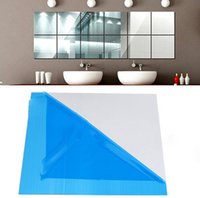 Wholesale 15cm cm Square Reflection Specularity Pad Pasting Mirror Wall Stickers Gum Quality Assurance Room Decorative Sticker mn