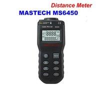 Wholesale MASTECH MS6450 Laser Guide Ultrasonic Distance Meter measurer Estimate distance equipment