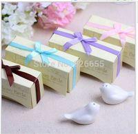 Wholesale fedex pairs quot Love Birds In The Window quot Ceramic Salt Pepper Shakers Wedding Favor