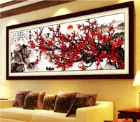Wholesale The living room printing cross stitch chart version of Primula plumPeacock peacock decorative paintingChinese culture Chinese style