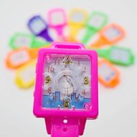 Precio de Niños juegos niños-100pcs / lot rompecabezas de juguetes juego de laberinto de reloj