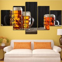 beer glass picture - Home decoration Wall Beer Glasses Art Pictures Pieces High Quality Modern Canvas Painting for Living room
