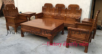 antique couch - Single seat sofa couch tables living room wood sofa sets luxry african rosewood chinese ancient tenon structure and natural lacquer craft