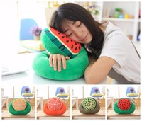 airplane game - Creative Office Nap Pillow Fruit Nanoparticles Neck Pillow Car Airplane Headrest Cushion Nursing Travel Pillow x25cm