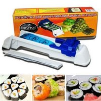 Wholesale Roll Machine Sushi Maker Machine New Dolmer Roll Sushi Nori Mold Set Plastic Meat Vegetable Roller Kitchen Accessories Tool CCA5353