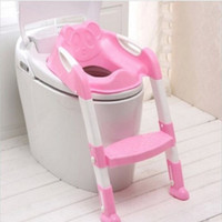 Wholesale Baby Potty Seat with Ladder Children Toilet Seat Cover Kids Toilet Folding Infant Potty Chair Training