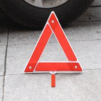 Wholesale 1pcs cm cm Car Emergency Breakdown Warning Triangle Plastic Boxed Vehicle Emergency Triangle Warning Signs Safety Warning Frame