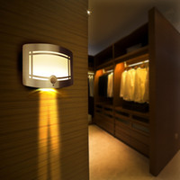 Wholesale LED infrared induction lamp body Intelligent light control small night light creative corridor corridor lights cell wall lamp