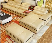 Wholesale Leather sofa factory direct import yellow leather sofa sofa corner living room sofa leisure leather sofa bag