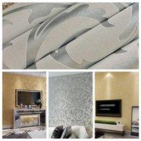 Wholesale d European living room wallpaper bedroom sofa tv backgroumd of wall paper roll papel de parede listrado