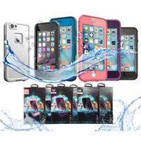 оптовых waterproof case-AAA ++ качество водонепроницаемый противоударный Snowproof Грязь Снег Доказательство чехол для Iphone 6 4.7 розничный пакет VS Redpepper Samsung S5 бесплатной доставкой