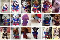 bat pets - Super dog DOG Super Spider man Bat dog clothes cat clothing four legs Change to pack puppy pet teddy mixs Christmas gift