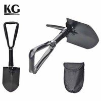 Garden Shovel steel garden tools - KG Home Garden Sports Tool Folding Shovel High Carbon Steel Handle Powder Coat Finish For Farm or Outside Sports Colors