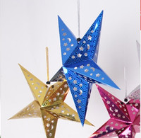 Wholesale Holiday party decoration ornaments shop Star Christmas decorations festival hanging pendant layout