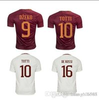 Wholesale Thai Quality Customized TOTTI Rome Soccer Jersey Shirts top DZEKO Football Jerseys Tops GYOMBER NAINGGOLAN PEROTTI Soccer shirt