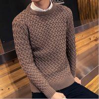 Men best brand computer - Trendy Sweater Men Merino Wool Sweater Gradient Pullover Brand Mens Pull Homme Best Seller Round Neck Soft Wool pull over