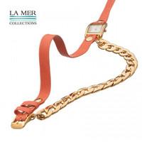 venda por atacado az box-Apenas um Novo para presente com Box La Mer Coleções handmade couro envoltura relógios para Lady Frete grátis de alta qualidade AZ-0002